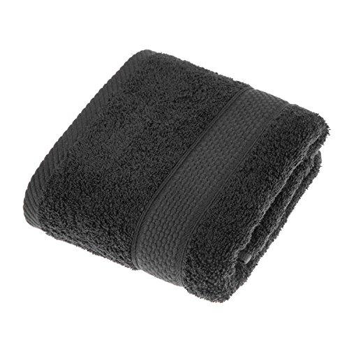 HOMESCAPES Toalla de Manos, 100% algodón Turco Absorbente y Suave, Color Negro 50 x 90 cm