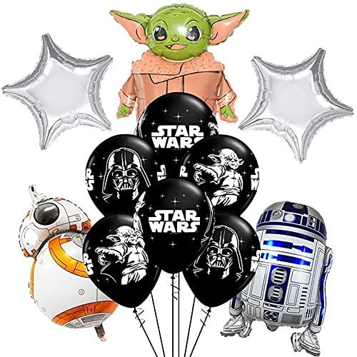 Globos Star Wars Nesloonp 18 PCS decoraciones para fiesta de Yoda de bebé Suministros De Fiesta De Cumpleaños, Decoraciones Para Fiestas