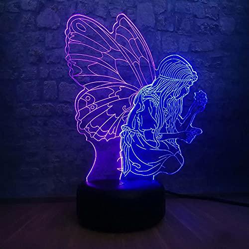3D ilusión de luz nocturna 3D ilusión lámpara de mesa de bebé dormitorio lámpara decoración para niños niños regalos de cumpleaños regalos para niños