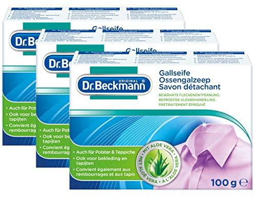Dr. Beckmann Gallseife 100g Stück Gezielte Fleckentfernung (3er Pack)