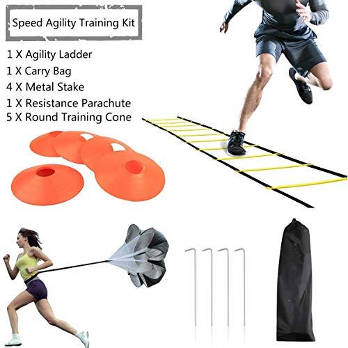 JEMPET Kit d'échelle d'entraînement de vitesse d'agility,sportif pour un travail plus rapide des...