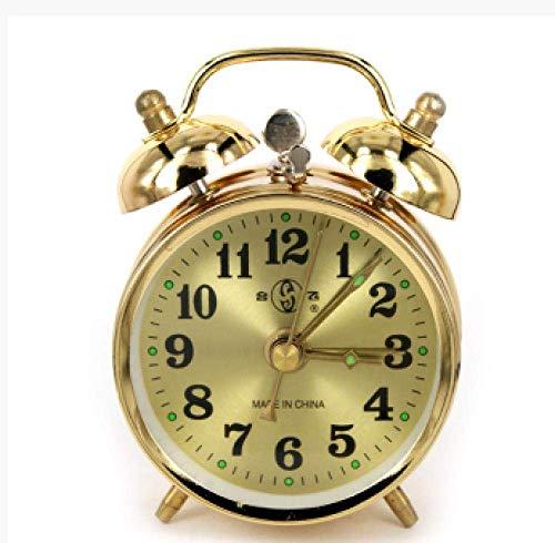 WWXL Despertador, Despertador mecánico, Reloj Despertador Manual Vintage de Metal mecánico, Despertador de Campana de Movimiento de Cobre Puro, Despertador de cabecera-A, (Color: B)