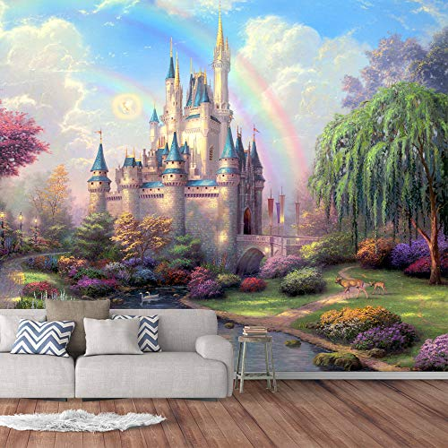 IDEA4WALL Wall Murals for Bedroom Dream Castle Large Removable Wallpaper Peel and Stick Wall Stickers - 66x96 inches