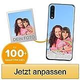 Coverpersonalizzate.it Handyhülle für Samsung Galaxy A50 mit Foto-, Bildern- oder Text selbst gestalten- Die Handyhülle ist aus weichem durchsichtigem TPU-Silikon-Gel Material