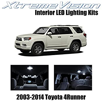 XtremeVision Interior LED for Toyota 4Runner 2003-2014  12 Pieces  Pure White Interior LED Kit + Installation Tool