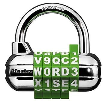 Master Lock 1534D Locker Lock Set Your Own Word Combination Padlock 1 Pack Assorted Colors