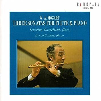 Mozart: Three Sonatas for Flute & Piano (Arr. for Flute and Piano)