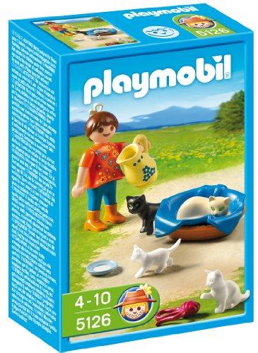 PLAYMOBIL - Familia de Gatos con niña
