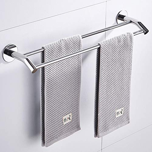 N / A - Porta asciugamani da parete, sos304, in acciaio inox a doppia fila, porta asciugamani, scaffale per hotel, senza forare