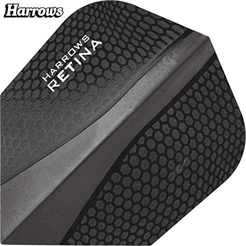 Harrows Retina Dart Flights, 10 Sets (30 Stück) 100 Micron, extra Stark sehr Robust Standart Form (Schwarz)