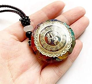 RMYSUM Cubo di Metatron Merkaba 7 Chakras Crystal Stone Orgone Energy Pendant Necklace