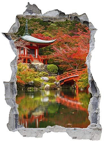 See Wald Asien Japan Wandtattoo Wandsticker Wandaufkleber E0477 Größe 46 cm x 62 cm