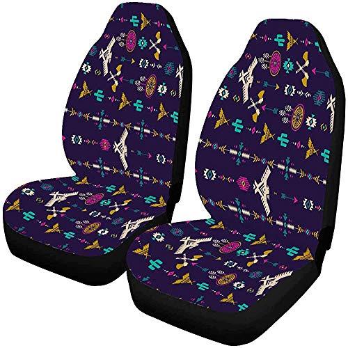 MOLLUDY Tribal Ethnic Art Vordersitzbezüge 2er-Set, Sitzkissen fürs Auto, passend für die meisten Fahrzeuge