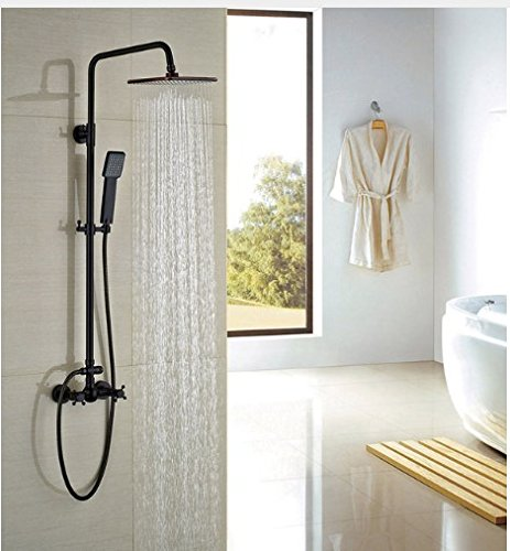 GOWE Square Shower Head Oil Rubbed Broze Shower Faucet Rainfall Shower Sets Mixer Faucet