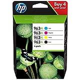 HP 963 XL 3YP35AE Multipack da 4 Cartucce Originali, ad Alta Capacità, da 6.800 Pagine a Cartuccia, Compatibile con Stampanti HP OfficeJet Pro Serie 9010 e 9020, Nero/Ciano/Giallo/Magenta
