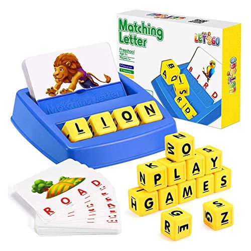 Máquina De Juego De Alfabeto Inglés, Juego Educativo De Cartas, Juguetes Educativos para Niños Y Niñas, Juguetes para Juegos De Aprendizaje para Niños, Juguetes para Niños 3-8 Años