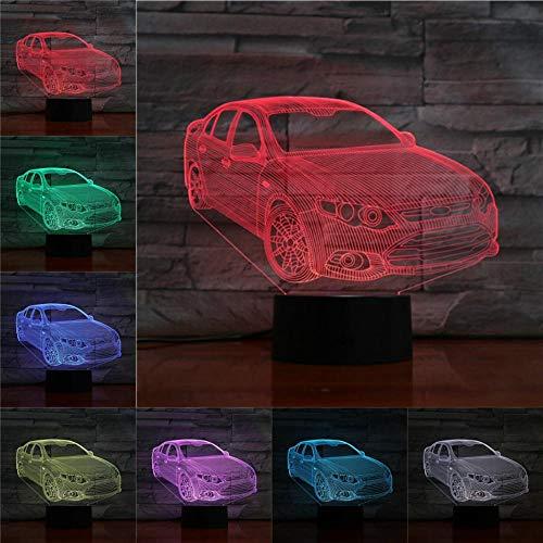 3D Nachtlicht Tischlampe LED Beleuchtung Geschenke für Kinder Taschenlampe 3 AA Batterien USB-Kabel angefragt Kreativ