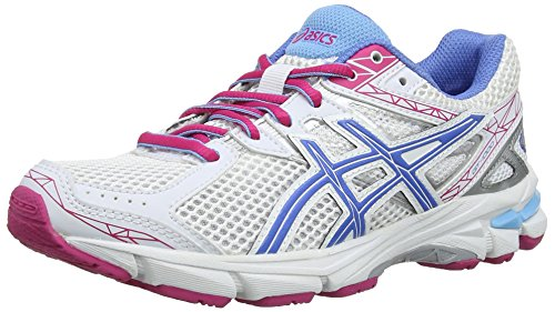 ASICS Gt-1000 3 GS Scarpe Sportive, Unisex Bambino, White/Powder Blue/Hot Pink 139, 33.5