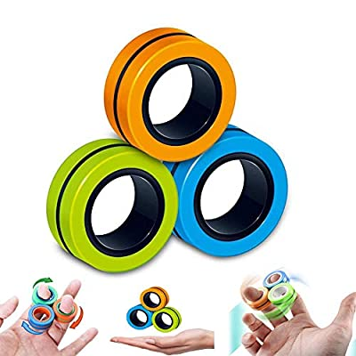 QDH Fidget ToysSensory ToysFiget ToysMagnet ToyFinger Magnetic RingMagic