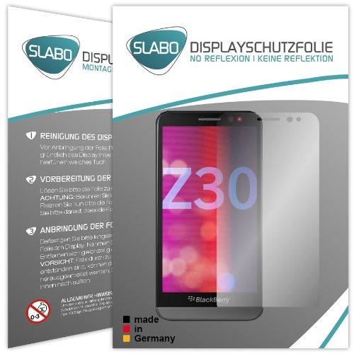Slabo 2 x Bildschirmschutzfolie BlackBerry Z30 Bildschirmschutz Schutzfolie Folie No Reflexion|Keine Reflektion MATT - Entspiegelnd Made IN Germany