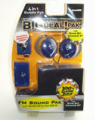 DREAMGEAR GBA SP Big Deal 4-in-1 Bundle Pak - Cobalt Blue