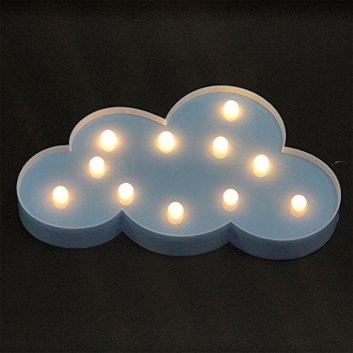Nuvola figura LED Night Light bianco caldo Lampada da comodino Tavolo luminoso A pile per Natale Capodanno decorazione del partito