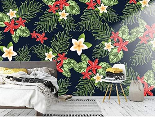 rylryl 3d wallpaper foto benutzerdefinierte wand wohnzimmer tropische zierpflanzen malerei sofa tv hintergrund wandaufkleber wandbilder-250x175cm