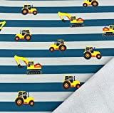 0,5m Softshell Bagger auf Streifen grau-Petrol -