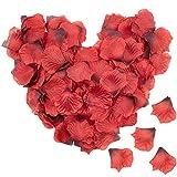 Lawei 4000 pétalos de rosa artificiales de seda para boda, fiesta, hogar, hotel, día de San Valentín, color rojo vino