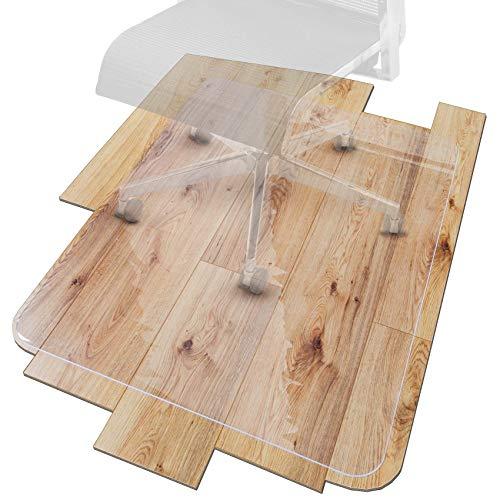 ANRO Bodenschutzmatte Transparent Schutzmatte Schonmatte rutschfest für Hartböden 36 Größen Bürostuhlunterlage 89x89cm Rechteck