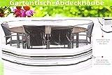 Florabest Gartentisch Abdeckung Schwarz/Weiß HG00182A