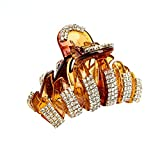 Numblartd Brown: Exquisite Acrylic Rhinestones Large Fancy Hair Claw Clip - Women Lady Girls Elegant Crystal Jaw Clips Hairpin For Thick Hair (Brown) hair thickener Jan, 2021