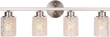 "ALICE HOUSE 28.7"" Vanity Lights, 4 Light Wall Lighting, Brushed Nickel Bathroom Lights Over Mirror, Bathroom Lighting AL9082-"