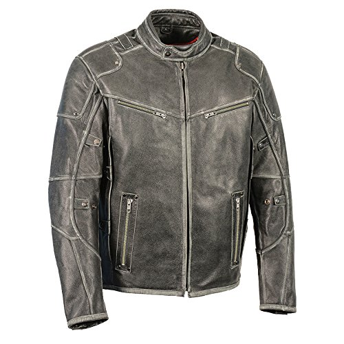 Mens Leather Jackets Grey
