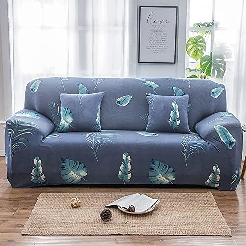 WXQY Funda de sofá Estampada de Colores Bien Envuelta Funda de cojín elástica segmentada con Todo Incluido Juego de Funda de sofá Antideslizante A4 2 plazas