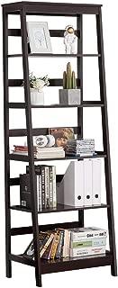 Yaheetech 5-Tier A Frame Wood Ladder Bookshelf Multifunctional Storage Rack Display, Dark Espresso