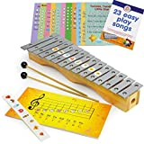 Glockenspiel Xylophone 15 notes - Kids Sheet Music Book - 34 Easy Play Songs for Xylophone