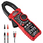 KAIWEETS Clamp Meter 1000A True RMS AC Current Amp Meter, Inrush, VFD, LOZ Mode, 6000 Counts, Measures Current AC/DC Voltage Temperature Capacitance Resistance Diodes Continuity Duty-Cycle