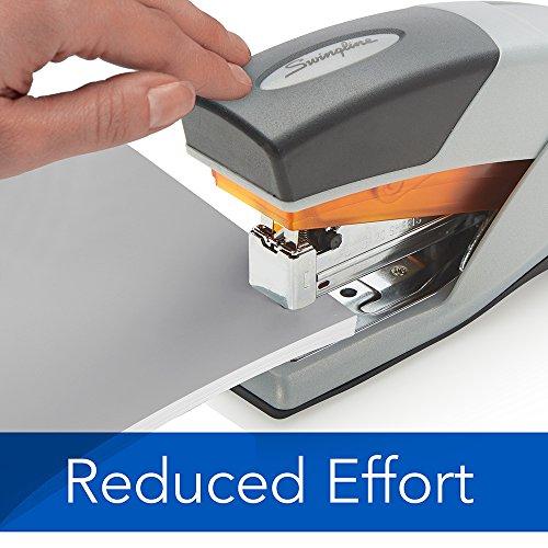 Swingline Stapler, Optima 25, Compact Desktop Stapler, 25 Sheet Capacity, Reduced Effort, Orange/Gray (66412) Photo #4