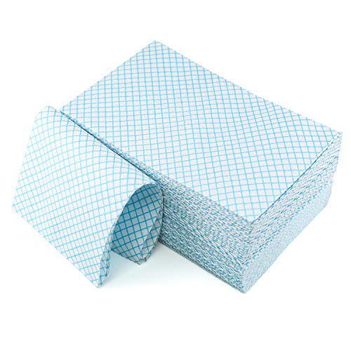 Disposable Cleaning Towel 100pcs Towels Multipurpose Nonwovens Non-Woven Kitchen Cleaning Nonstick Wiping Rag House Cleaning Cloth Washcloth Towel Absorbent Dry Quickly (Blue, 100pcs)