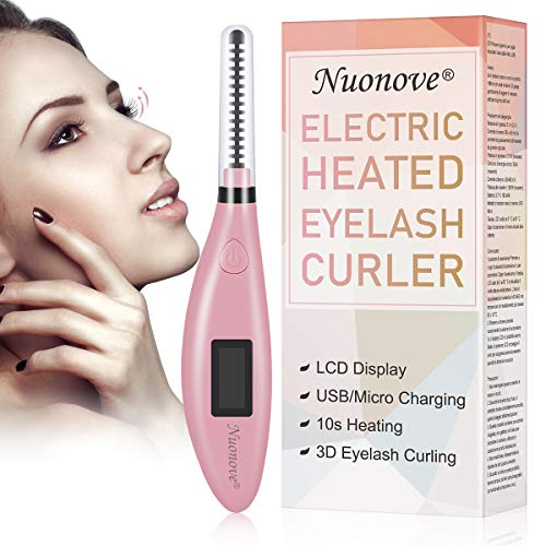 Heated Eyelash Curler, Eyelash Curler Electric, Electric Heated Eyelash Curler, 【2020 NEWEST】Mini USB Rechargeable Eyelash Curler with LCD Display, Valentine's Gifts for Girls