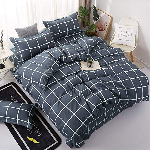 QWEASDZX Bedding Set Cotton Digital Printing Sheets Quilt Cover Pillowcase Spring And Autumn Cotton Four-Piece Set Home Decoration 180x220cm