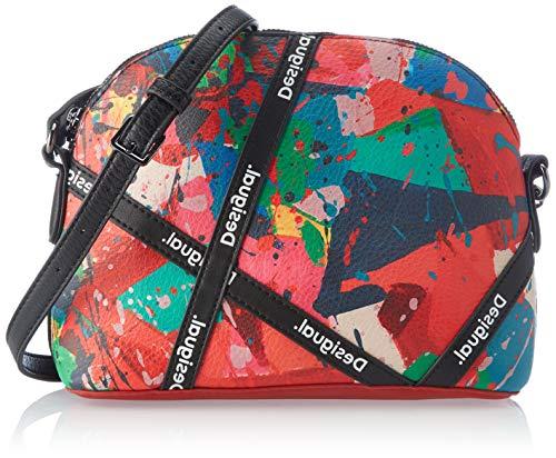 Desigual Accessories PU Across Body Bag, Bolsa para Cuerpo Mujer, rojo, U