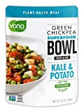Vana Life's Foods Plant based Ready Meal - Green Chickpea Superfood Bowl Heat and Eat with Kale and Potato Microwaved Cooked Bowl | Product of the USA
