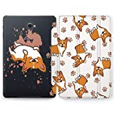 Wonder Wild Corgi Paws Samsung Galaxy Tab S4 S2 S3 A E Smart Stand Case S6 S5e 2019 2017 2018 Tablet Cover 8 9.6 9.7 10.1 10.5 Inch Clear Design Dog Orange Texture Stand Print Animals Watercolor