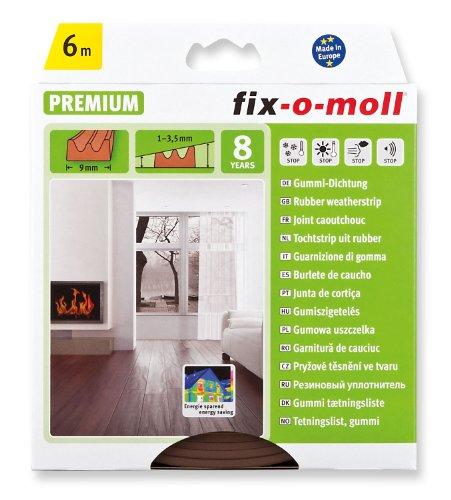 FIX-O-MOLL Guarnizione Espansa Adesiva Porte/Finestre Sezione E 4 x 9 Mm Marrone 6 M