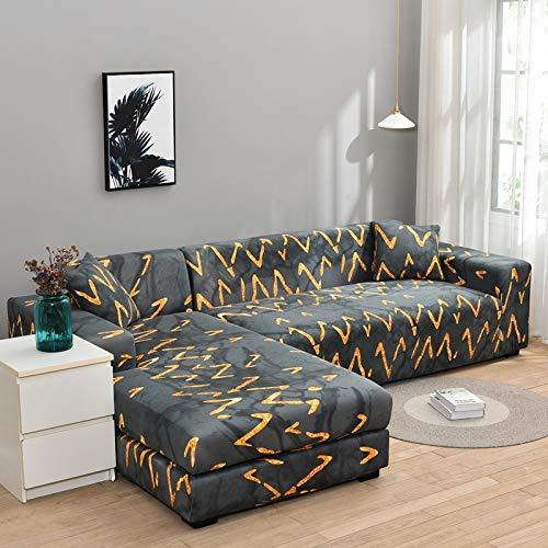 ASCV Fundas de sofá elásticas para Sala de Estar Sofá en Forma de L Necesita Comprar 2 Piezas Funda de sofá Funda de sofá de Esquina elástica Fundas A8 3 plazas