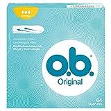 o.b. Original Normal Tampons mit geschwungenen Rillen/Für zuverlässigen Schutz, 64er Pack