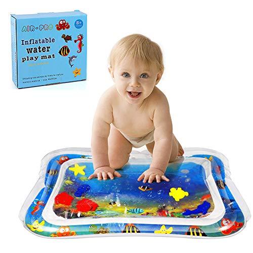 Eurobuy Colchoneta para jugar con agua boca abajo Alfombrilla de agua inflable para beb/és Gran forma de tortuga del mundo marino a prueba de fugas Infantes Colchoneta 40 x 33