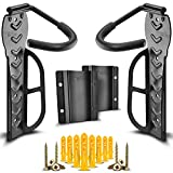 2 Sets of Compact Bike Wall Mount with Protector with Hardware - Easy to Install Hanging Bike Rack Garage - Space Saver Bike Storage Rack - Vertical Bike Hook for Indoor Home Apartment and Garage Use